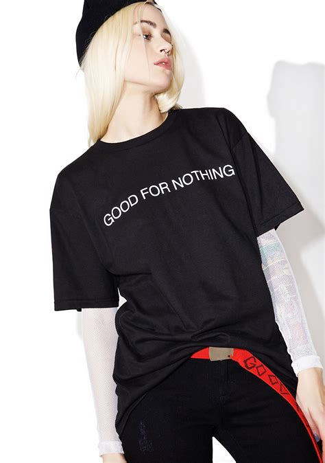 Nothing But Black Shirt black scale for nothing t shirt dolls kill