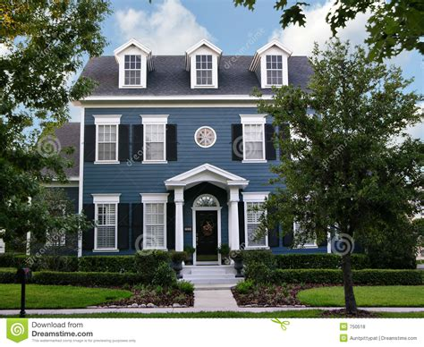 two story colonial royalty free stock photos image 750518