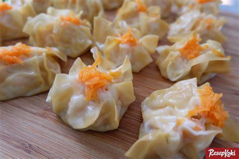 resep membuat siomay wortel siomay dimsum praktis ayam dan udang resep resepkoki