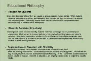 Teaching Philosophy Template by Philosophy Of Education Sles Www Imgkid The