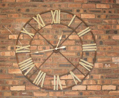 Large Iron Wall Clock with Roman Numerals   Vintage & Reclaimed Furniture, Edinburgh