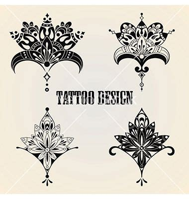 lotus tattoo vector tattoo design elements vector lotus flower by