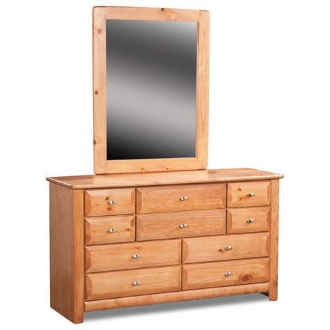 Laguna Dresser by Trendwood Laguna Nine Drawer Dresser And Mirror Set
