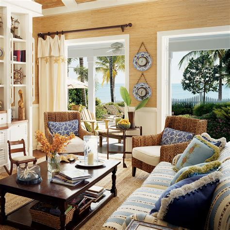 key west living room with blended furnishings key west