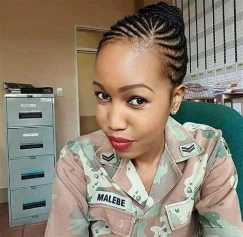 nnyo malebe twitter mzansi s hottest female soldier stirs up social media