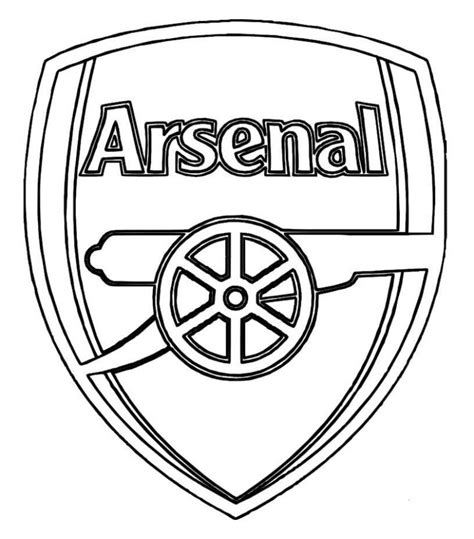 Arsenal Coloring Pages print arsenal logo soccer coloring pages or arsenal logo arsenal 2