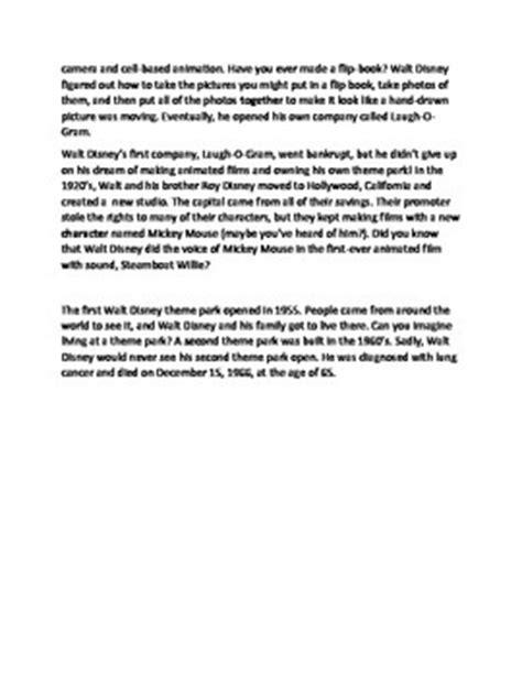 walt disney biography lesson plan walt disney biography worksheet by gavin academy tpt