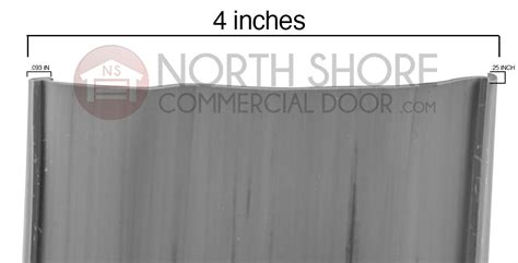 Garage Door Astragal by Hormann Grey 4 Inch Vinyl Astragal Seal For Your Garage Door