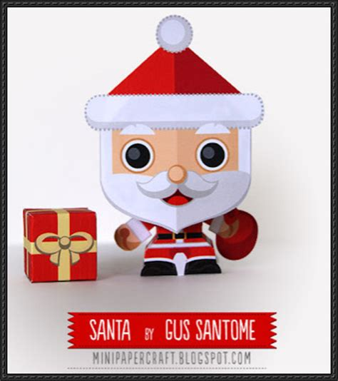 Minil Santaklaus papercraftsquare new paper model santa claus mini