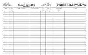 reservation book template free restaurant reservation book template calendar