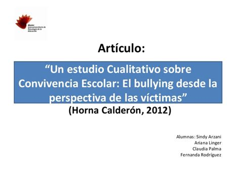 articulo bullying slideshare an 225 lisis de caso estudio multim 233 todo