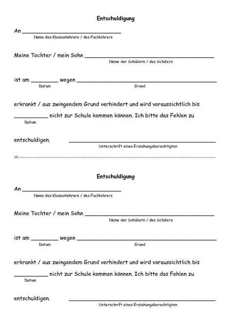 Musterbriefe Entschuldigung Schule Karl Erhard Scheufelen Grund Und Werkrealschule Lenningen Entschuldigungsformular