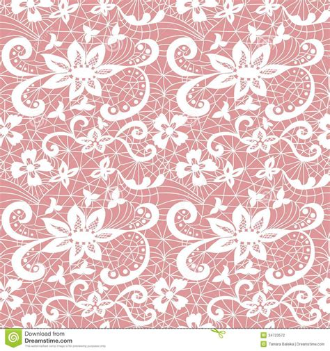 pink lace pattern lace seamless pattern with flowers stock photography