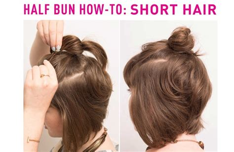 how to style half haircut for the half bun hairstyle hair inspiration