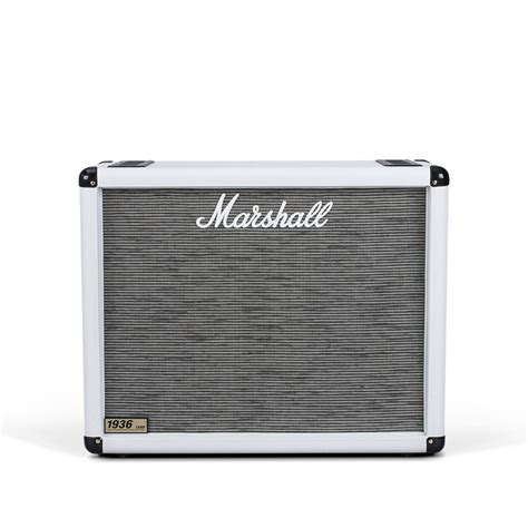 marshall 1936 2x12 cabinet marshall 1936 2x12 guitar speaker cab arctic white at