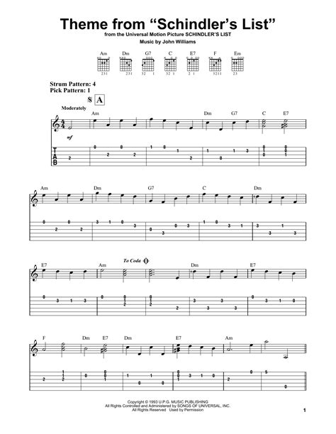 theme list schindler theme from schindler s list sheet music by john williams