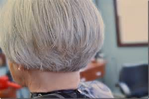 Pictures Of A Stacked Bob With Gray Hair Short Hairstyle
