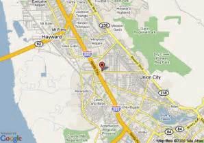 map of hayward california map of americas best value inn hayward hayward