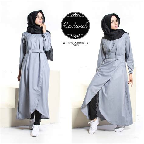 Dress Tunik Putih Navy model tunik terbaru baju tunik wanita 081252330771