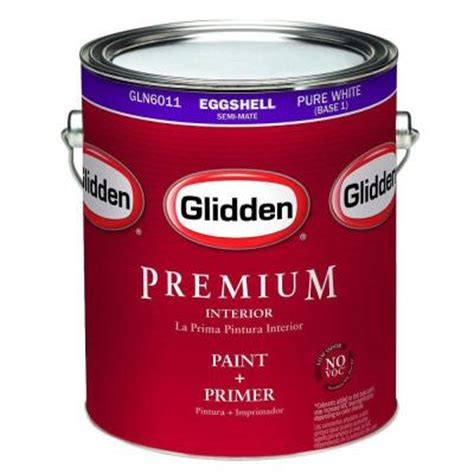 glidden premium 1 gal eggshell interior paint gln6013 01 the home depot