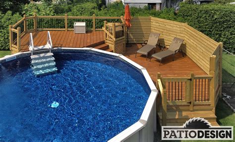 patio sol terrasse avec piscine hors sol trendy la piscine en bois