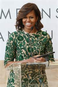 Flotus in naeem khan at the anna wintour costume center grand opening