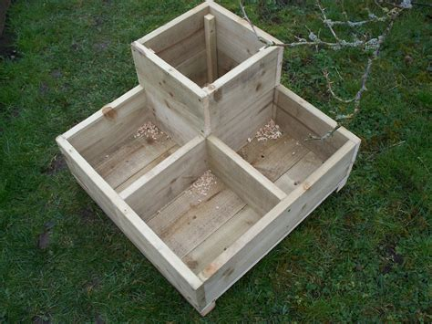 Garden Planters Wooden tanalised wood garden planters bogglewood and stones