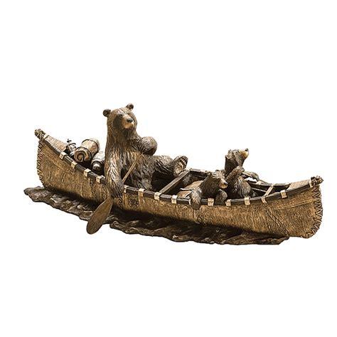 bear canoe trip sculpture