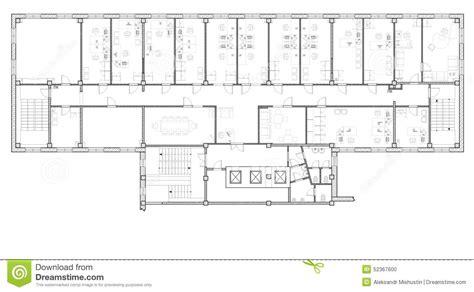 immeuble de bureaux de plan illustration stock image