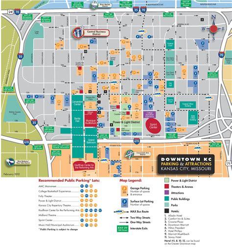 map kansas city kansas city downtown parking map
