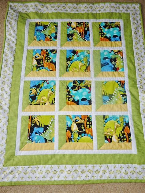 Handmade Quilt Sizes - handmade dinosaur quilt crib size quilts quilts