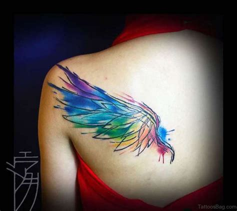 84 amazing angel wings shoulder tattoos 84 amazing angel wings shoulder tattoos