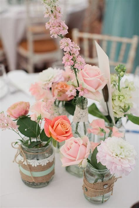 simply lovely table coarl pink and green table seafoam green wedding coral wedding pastel colour
