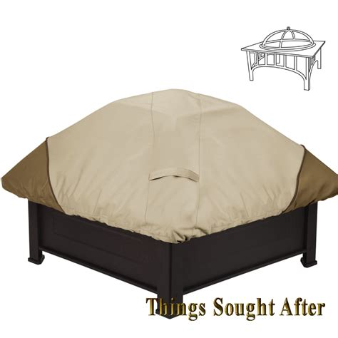 Square Outdoor Pit Covers cover for square pit firepit metal outdoor patio wood fireplace veranda ebay