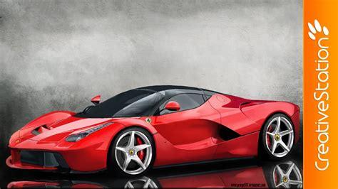 Ferrari Ps by Ferrari Speed Painting Photoshop Creativestation