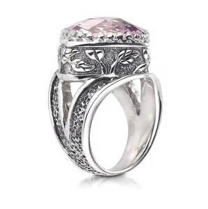 Morganite topaz ring in sterling silver