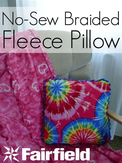 no sew braided edge fleece pillow best diy pins