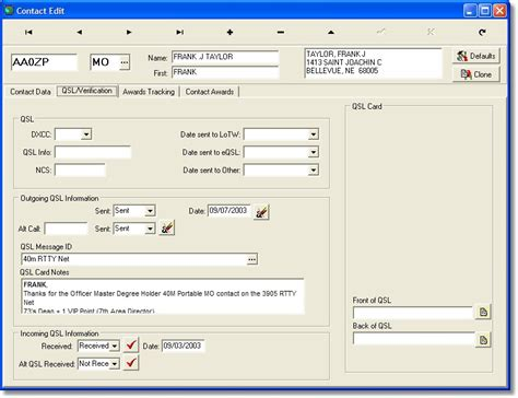 qsl card templates for word qsl card software