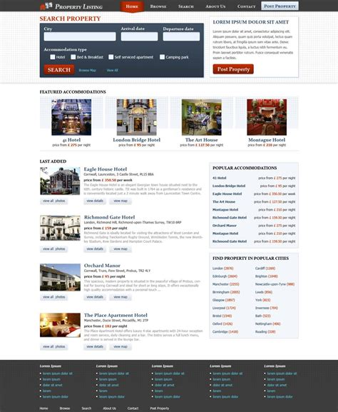 blogger templates for classified ads real estate website template free real estate web