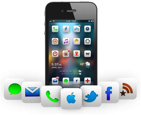 cool themes jailbroken iphone cool springboard themes for iphone 4