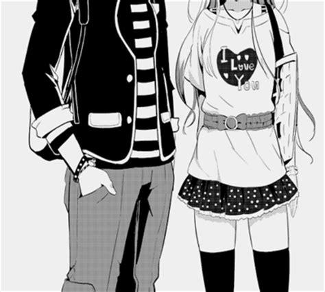 imagenes sad anime blanco y negro i love you anime black and white couple image 581297