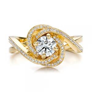 gold engagement ring custom yellow gold and engagement ring 100433 bellevue seattle joseph jewelry