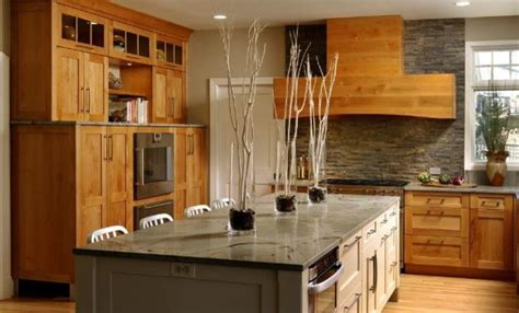 Alder Wood Cabinets Kitchen Modern Alder Wood Kitchen Featuring Greenfield Cabinetry Contemporary Kitchen Chicago By