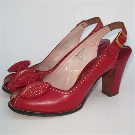 sepatu peeptoe cherry 1000 images about glorious 40 ies fashion on