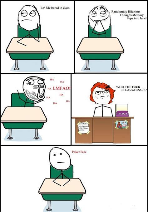 In Class Meme - me bored in class comic meme funpicc