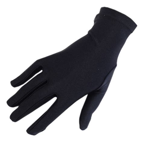 the with black gloves black co uk black satin cocktail gloves in black lyst