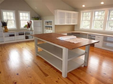 pattern making design room cutting table wood floors and white cabinets craft rooms pinterest