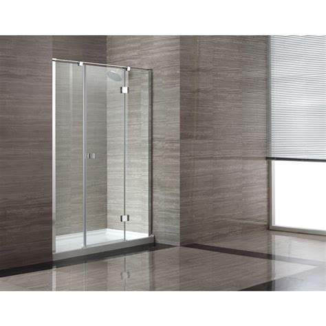 Ove Shower Door Ove Decors 32 In X 60 In X 80 In Shower Enclosure In Chrome With Clear Glass And White