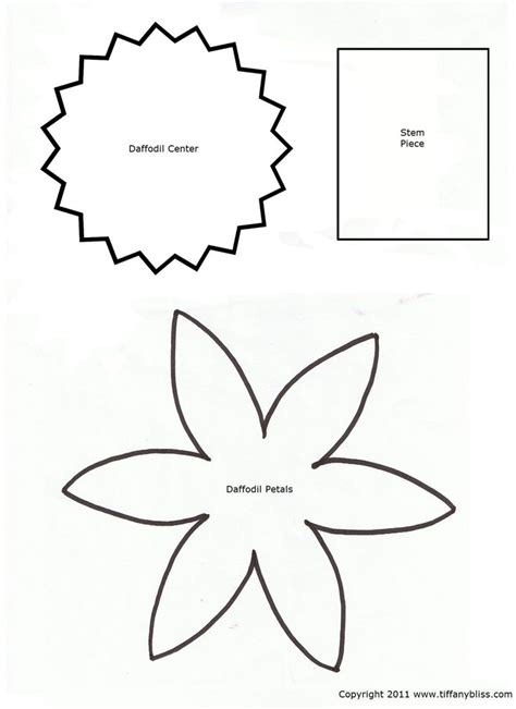 pattern craft activities 6 images of daffodil template printable pattern craft