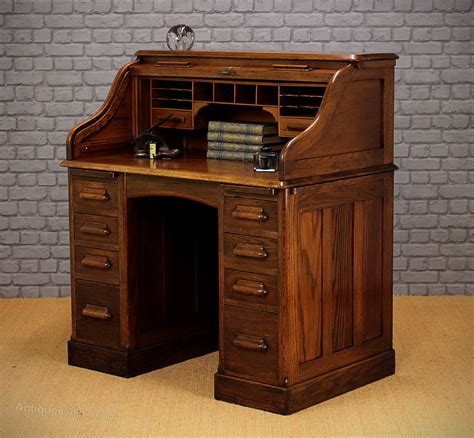 Small Oak Roll Top Desk C 1920 Antiques Atlas Small Roll Top Desk Oak